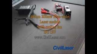 200mw 405nm Blue Violet Laser module Dot with cooling fan DC 12V -- CivilLaser