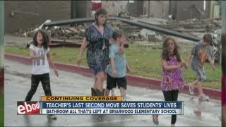 Teacher and Students survive tornado in bathroom