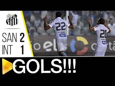 Santos 2 x 1 Internacional | GOLS | Copa do Brasil (28/09/16)