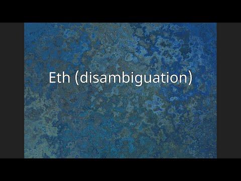 Eth (disambiguation)
