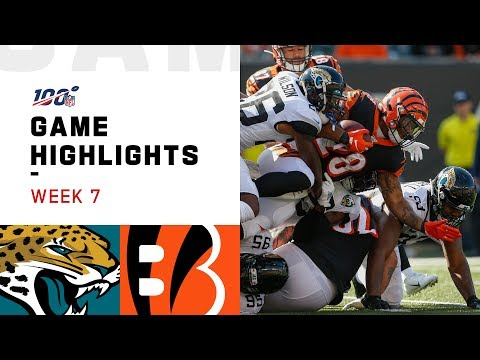 Jaguars vs. Bengals Week 7 Highlights | NFL 2019