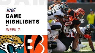 Jaguars vs. Bengals Week 7 Highlights | NFL 2019 Video