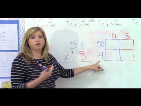 4th Grade Mathematics - Lesson 3: Multi-digit multiplication using the Area Array Model