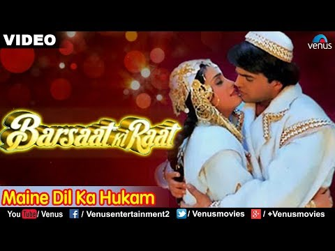 Maine Dil Ka Hukam Sun Liya Full Song | Barsaat Ki Raat | Alka Yagnik & Mohd.Aziz | Romantic Song