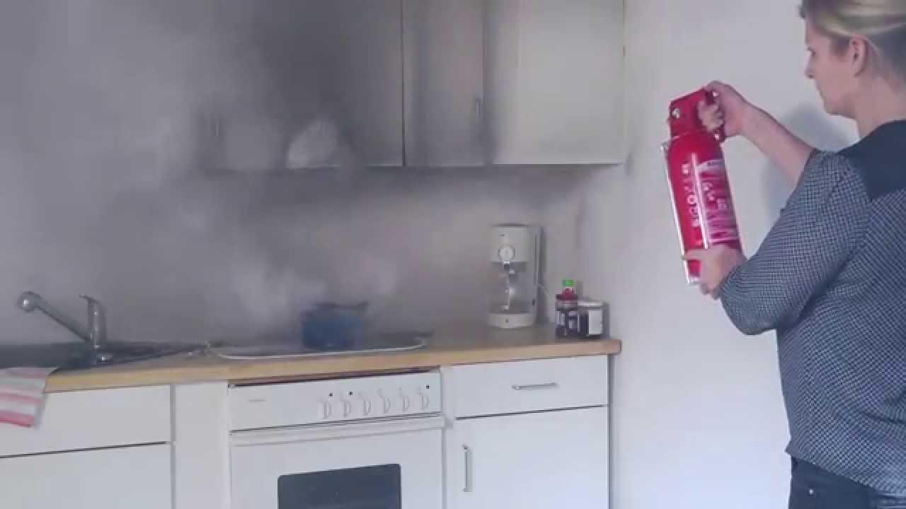Feuer löschen mit Feuerlöscher für Fettbrände geeignet ...