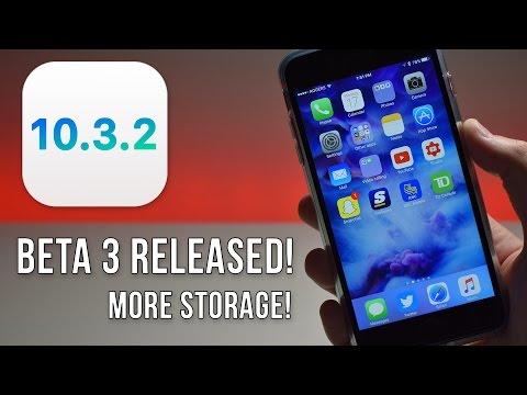 iOS 10.3.2 Beta 3 RELEASED! - More Storage Improvements!