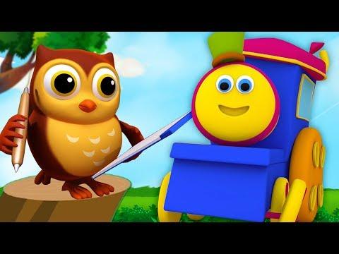 Bob il treno | vecchio gufo saggio | filastrocche | canzoni per bambini | Bob Train Old Wise Owl