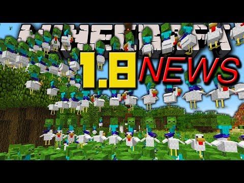Minecraft News: 1.8 Baby Zombie Chicken Jockey, Broken Launcher, Jeb's Survival Adventure, View Fix