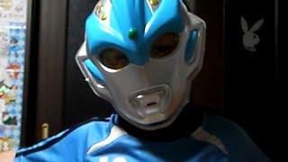 ウルトラマンギンガのお面で遊びました。 Playing with Mask of Ultrama...