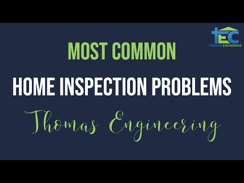 Dallas Home Inspector - Common Problems Found During the Home Inspection