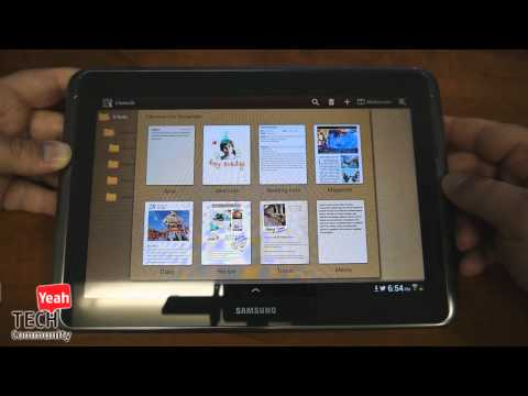 Samsung Galaxy Note 10.1 Android Tablet In-depth Hands-on