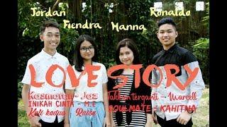 Lagu Cinta Indonesia Medley - Cover by Jordan ft Ronaldo, Fiendra, Hanna - Stafaband