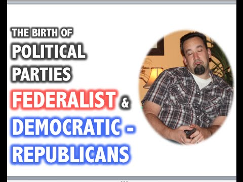 A history of the democratic republican and the federalist parties in the united states