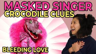 So many clues that nick carter is the crocodile   masked singer reaction - bleeding love