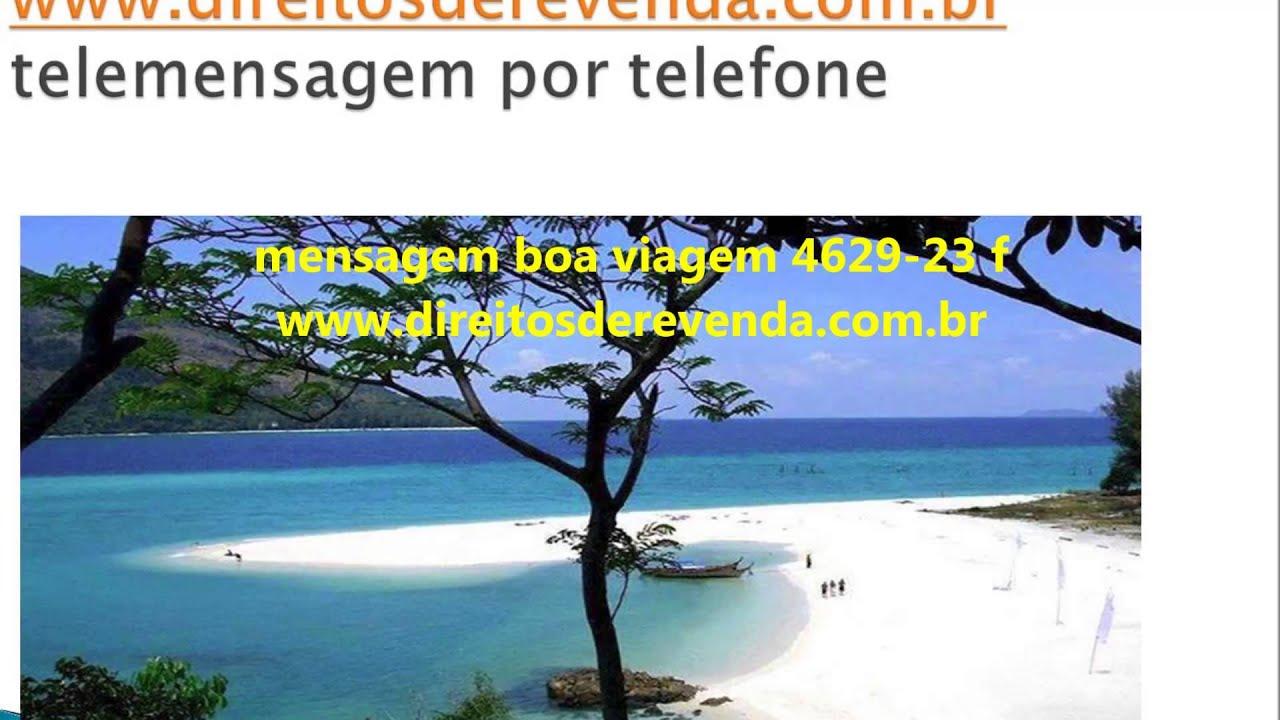 Conhecido Telemensagem boa viagem 4629-23 f - YouTube DZ61
