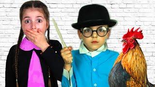 Back To School Masha and Vania Play at school / История про вредные сладости
