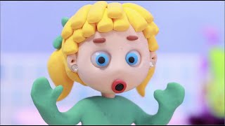 Washing machine broken 💕Superhero Play Doh Stop motion cartoons