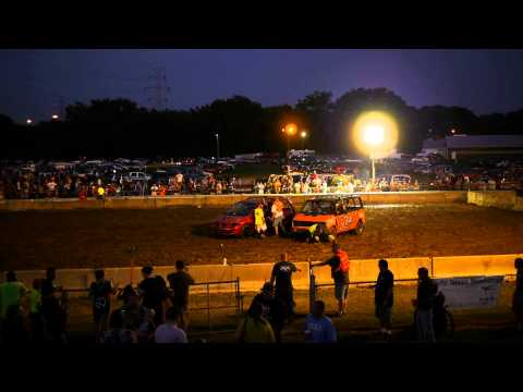 Mini Vans, Demolition Derby, Hamilton County Fair 2014, Cincinnati, OH Part IV