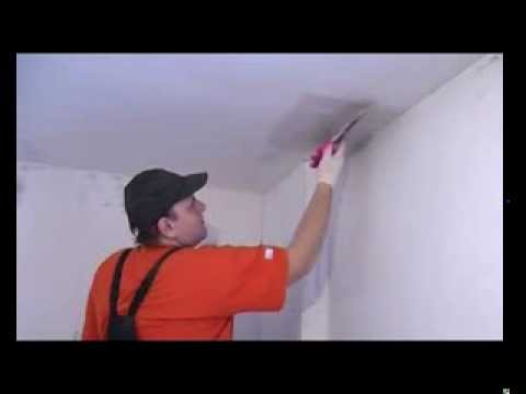 видео: Шпаклевание потолка своими руками