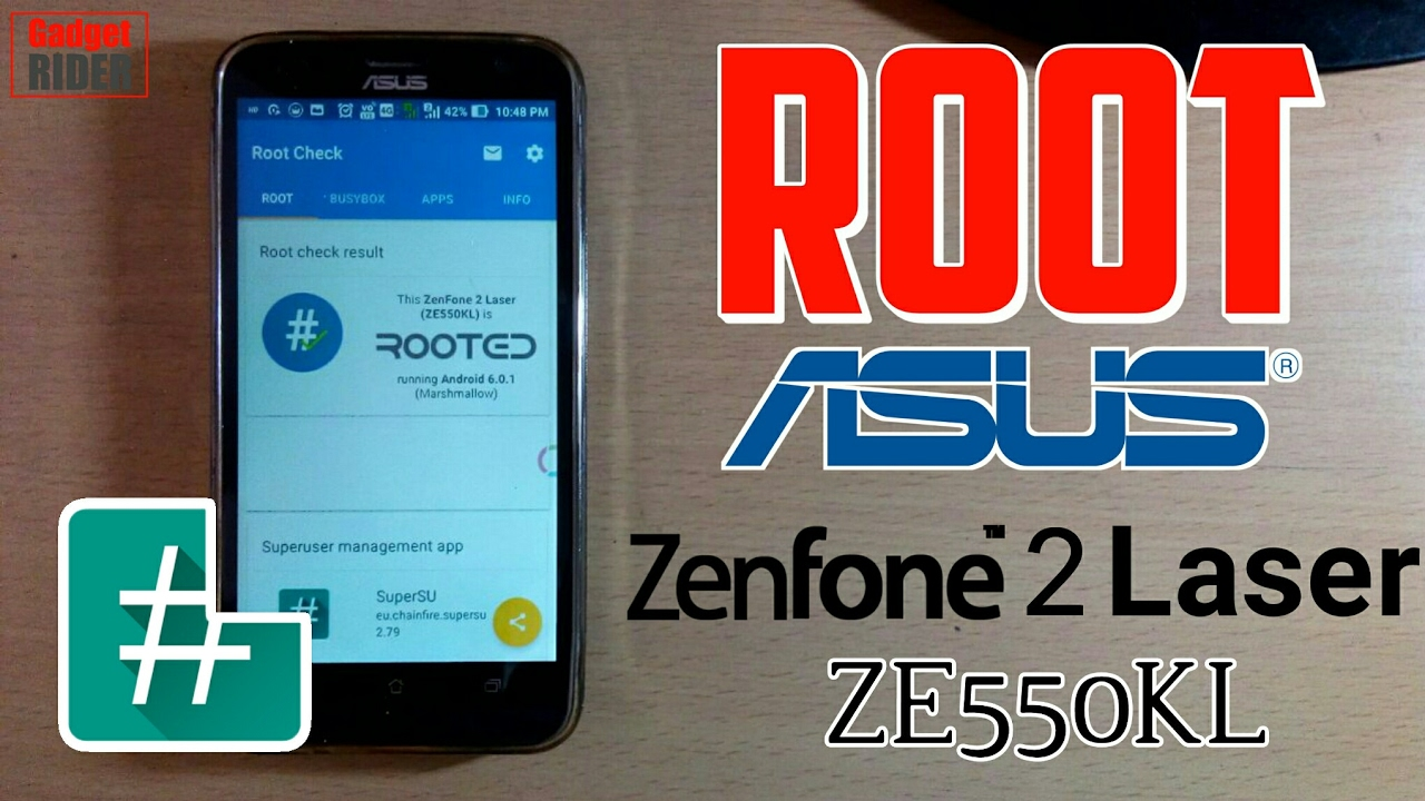 How to root Asus ZenFone 2 Laser ZE55OKL [Hindi & English subtitle]  [Easiest method] by Gadget RIDER