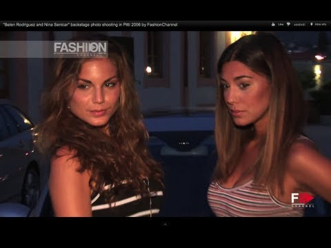 """""""Belen Rodriguez and Nina Senicar"""" backstage photo shooting in Pitti 2006 by FashionChannel thumbnail"""