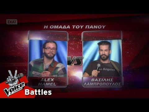 Alex Hamel vs Βασίλης Λαμπρόπουλος - Free Falling   4o Battle   The Voice of Greece