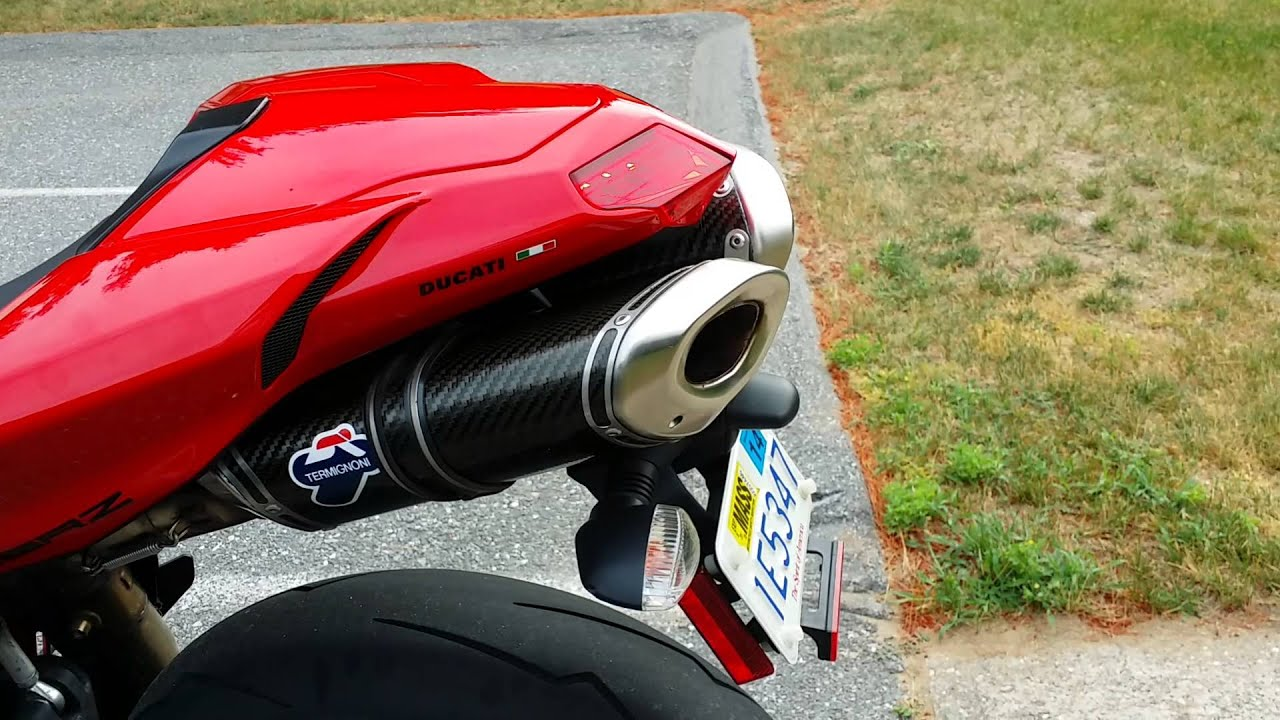ducati 848 evo with termignoni exhaust system - youtube