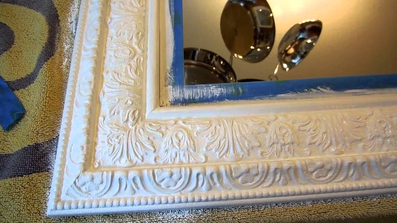 Diy Chalk Paint Mirror Update Youtube