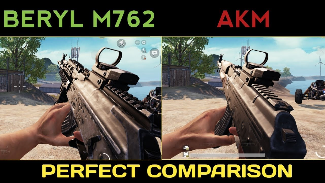 M762 Pubg: BERYL M762 Vs AKM All Comparison