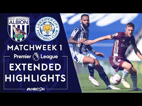 West Brom v. Leicester City | PREMIER LEAGUE HIGHLIGHTS | 9/13/2020 | NBC Sports