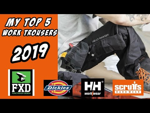 My Top 5 Work Trousers Reviewed In 2019 Includes FXD, Dickies, Helly Hansen And Scuffs Work Trousers