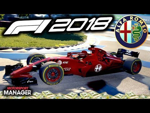 MISTAKES! TOUGH SECOND RACE - F1 2018 Alfa Romeo Manager Career Part 18