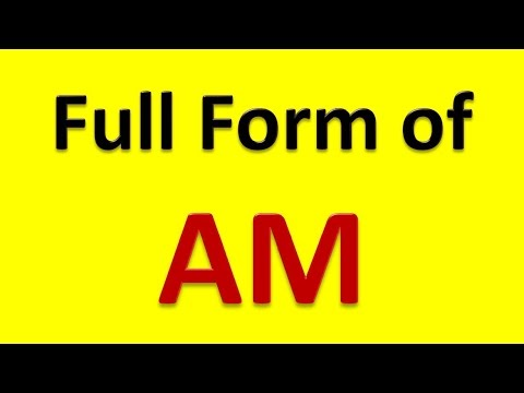 Full Form of AM - YouTube