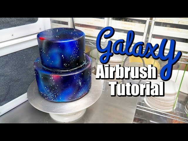 How to Airbrush a Space/Galaxy Cake Tutorial!