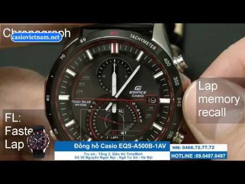 Hướng dẫn sử dụng đồng hồ Casio EQS A500B 1AV