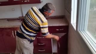 Mebran kapak mutfak dolabı