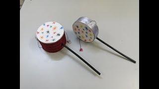 عمل طبل اليد لعبة للاطفال - صنع طبلة اليد سهل - اشغال يدوية