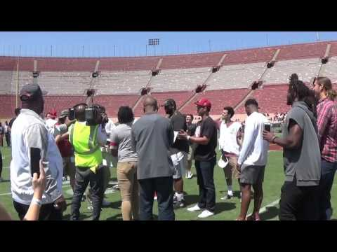 Senior Trojans getting their Rose Bowl rings