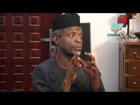 Prof.  Yemi Osinbajo Vice President Elect - Exclusive First Interview