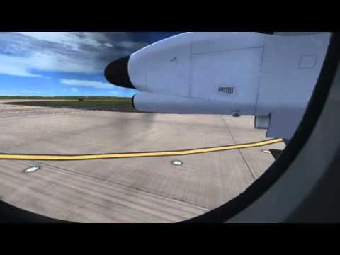 FSX - United Express Dash 8-Q400 Departure From KDEN