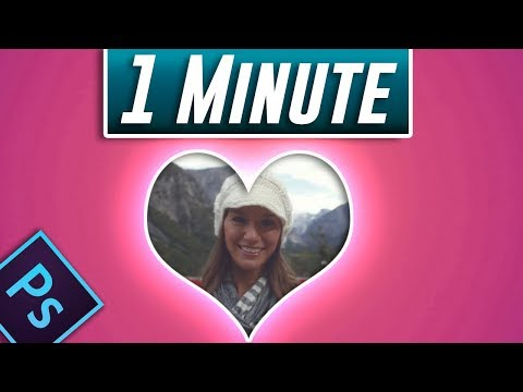 How To Put Image In A Heart Shape In Photoshop (Fast Tutorial)