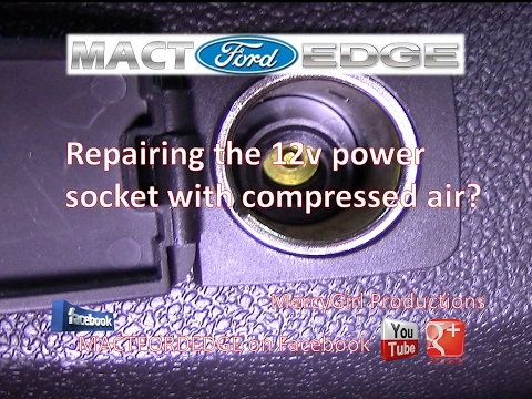 Repairing the 12v power socket with compressed air
