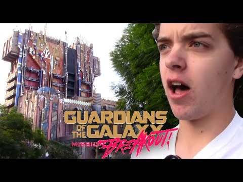 First Time Riding Guardians of the Galaxy: Mission Breakout | Disney California Adventure