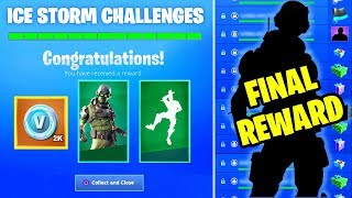 *NEW* ICE STORM CHALLENGES FINAL REWARD LEAKED! All FREE GIFTS UNLOCKED (Fortnite Battle Royale)