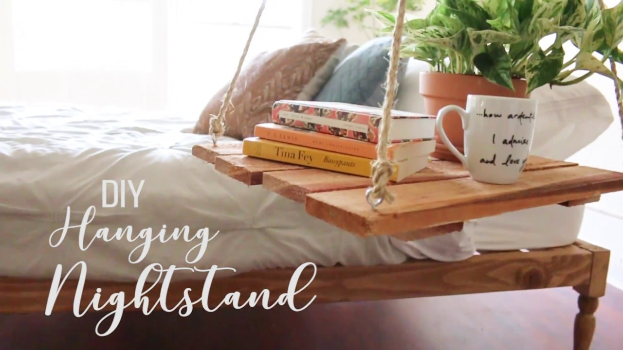DIY Urban Outfitters Hanging Nightstand