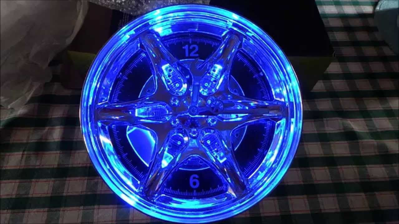 Unboxing Custom Car Neon Rim Wheel Wall Clock From Amazon
