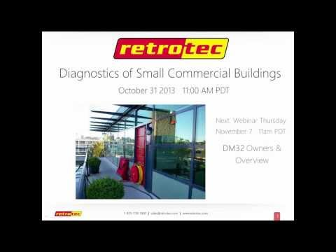 Diagnostics of Small Commercial buildings (Oct 31, 2013 webinar)