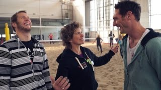 Olympian Marnie McBean talks Beach Volleyball and TO2015 with top men