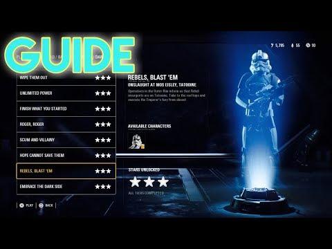 Star Wars BattleFront 2 How To Beat Tier 3 Rebel Blast Em DarkSide Level!