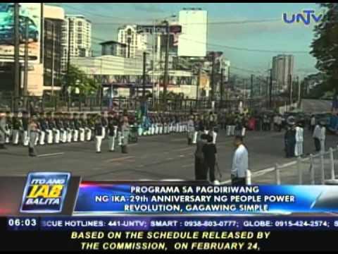 Programa sa EDSA People Power Revolution anniversary, gagawing simple